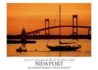 Nesbitt's Orange Sunset image as an art poster 18x24