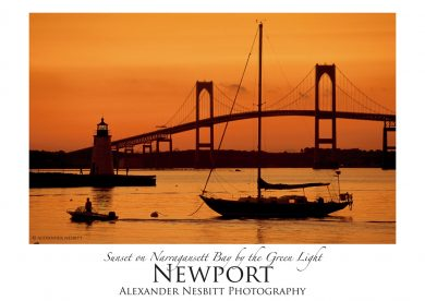 Nesbitt's Orange Sunset image as an art poster 18x24