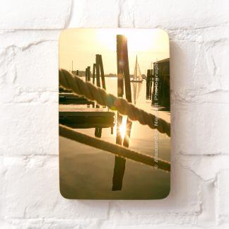Bannister's wharf in the late afternoon sun
