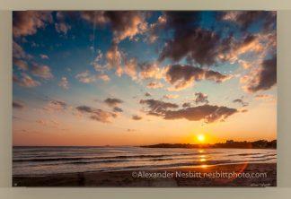sunset at bailey's beach, photograph by Alexander Nesbitt