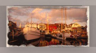 Boats at Bowens Wharf, a fine art photo print by Alexander Nesbitt