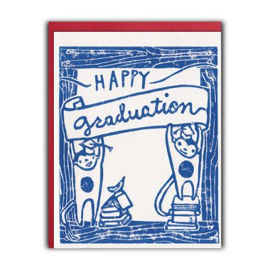 framed monkeys graduation card by ghost academy