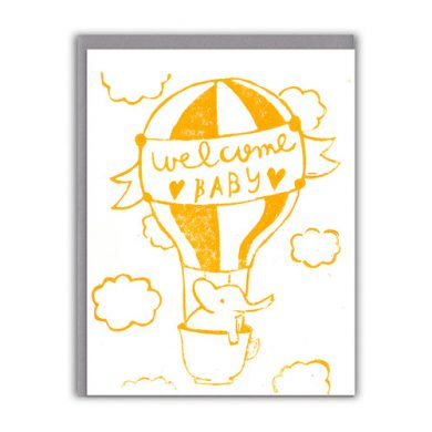 """Welcome Baby"" baby card by ghost academy"