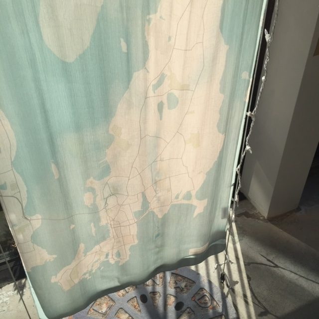 Newport map scarf